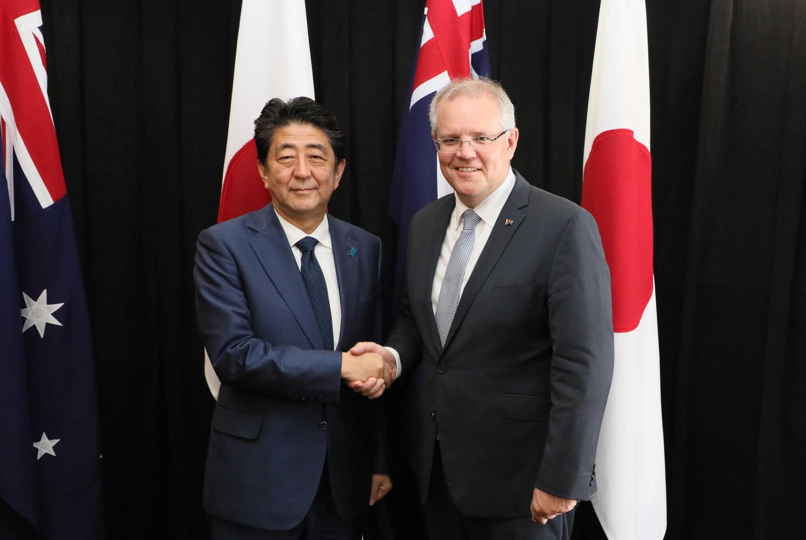 写真:日・オーストラリア首脳会談1