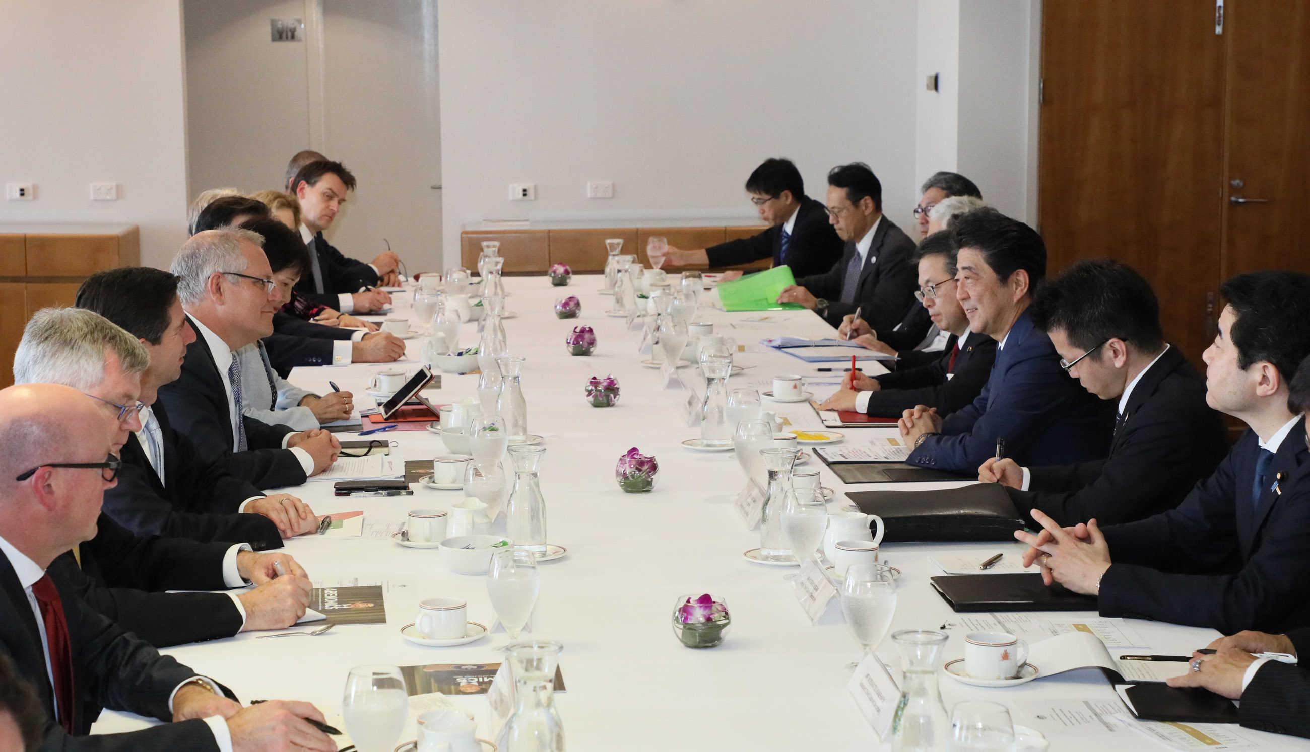 写真:日・オーストラリア首脳会談3