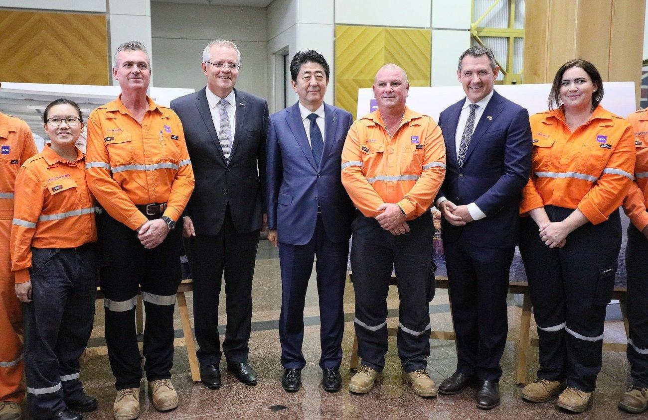 写真:ガナー北部準州首席大臣主催レセプションを訪問する両首脳1