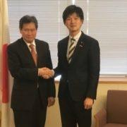 鈴木外務大臣政務官とリムASEAN事務総長との会談1