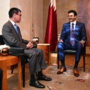 河野外務大臣によるタミーム・カタール首長表敬