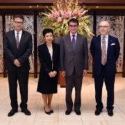 河野外務大臣とジャパン・ハウス3拠点館長との夕食会