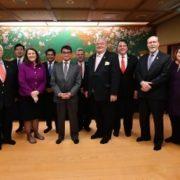 河野外務大臣と米国議会日本研究グループ訪日議員団一行との夕食会