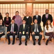 中東・北アフリカ地域における親日派・知日派発掘のための交流事業参加者による河野外務大臣表敬1