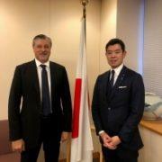辻外務大臣政務官とアミン国際再生可能エネルギー機関事務局長との会談1
