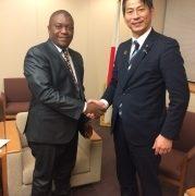 山田外務大臣政務官とコーバー・リベリア共和国国際協力・経済統合担当外務副大臣との会談
