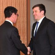 クラン・トルコ外務副大臣による河野外務大臣表敬1