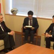 バムジー世界水パートナーシップ議長による鈴木外務大臣政務官表敬