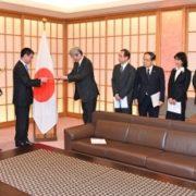 河野外務大臣に対する「核軍縮の実質的な進展のための賢人会議」による「京都アピール」の提出1