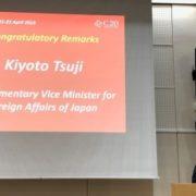 辻外務大臣政務官の東京民主主義フォーラム開幕セッションへの出席