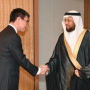 サウジアラビア諮問評議会サウジアラビア・日本友好議連一行による河野外務大臣表敬1