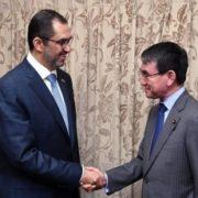 ジャーベル・アラブ首長国連邦国務大臣による河野外務大臣表敬1