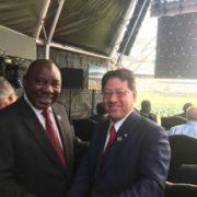 関衆議院議員(総理特使)の南アフリカ大統領就任式への出席