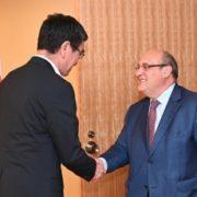 ヴィトリーノ国際移住機関事務局長による河野外務大臣表敬1