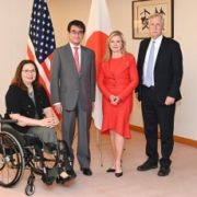 米国上院軍事委員会一行による河野外務大臣表敬1