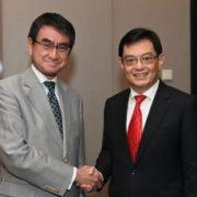 河野外務大臣とヘン・シンガポール副首相兼財務大臣との会談(夕食会)