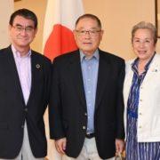 オキモト・シリコンバレー・ジャパン・プラットフォーム共同議長による河野外務大臣表敬1