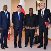 中南米諸国国連常駐代表等による河野外務大臣表敬1