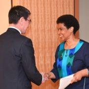 ムランボ=ヌクカ国連女性機関事務局長による河野外務大臣表敬1