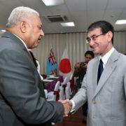 河野外務大臣のバイニマラマ・フィジー首相表敬1
