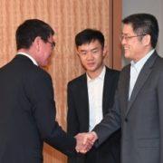 楽玉成・中国外交部筆頭副部長による河野外務大臣表敬1