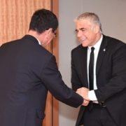 ラピード・イスラエル「青と白」党共同代表の河野外務大臣表敬1