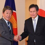 茂木外務大臣とリムASEAN事務総長との会談1