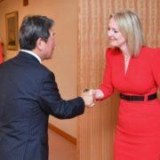 茂木外務大臣とトラス英国国際貿易大臣との会談1