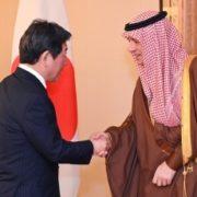 茂木外務大臣とジュベイル・サウジアラビア外務担当国務大臣との会談1