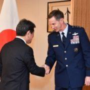 ケビン・シュナイダー在日米軍兼第5空軍司令官による茂木外務大臣表敬1