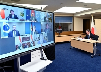(写真1)安保理改革に関するG4外相会合の様子