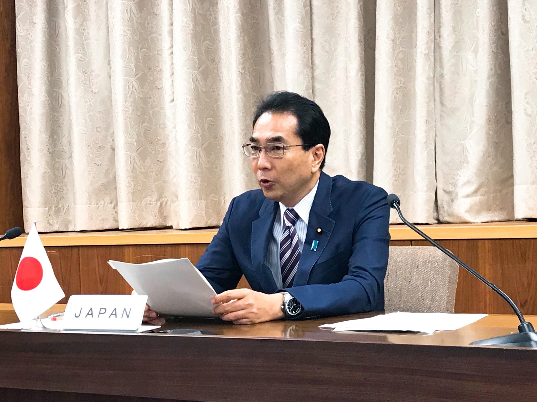 G20農相会合に参加する江藤農林水産大臣(正面)