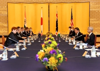 (写真2)第2回日米豪印外相会合の様子