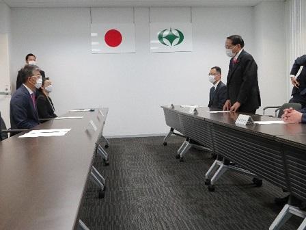 田村市長との意見交換(於:田村市役所)