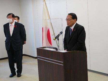 福島復興局職員への訓示(於:福島市)