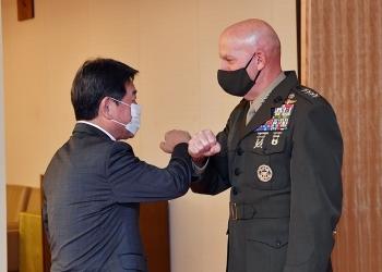 バーガー米海兵隊総司令官による茂木外務大臣表敬1