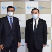 梶山大臣とアル・サダ前大臣の画像