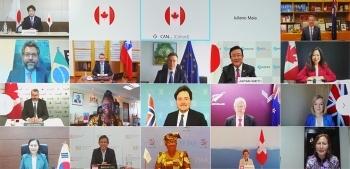 カナダ政府主催WTO少数国閣僚テレビ会合(オタワ・グループ会合)の参加者