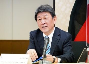 日独外務・防衛閣僚会合(「2+2」)に臨む、茂木敏充外務大臣の様子