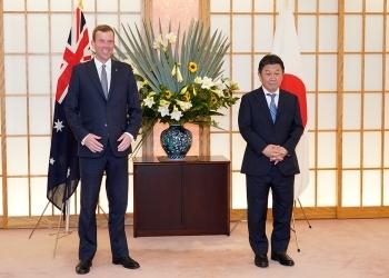 茂木外務大臣とティーハン・オーストラリア貿易・観光・投資大臣