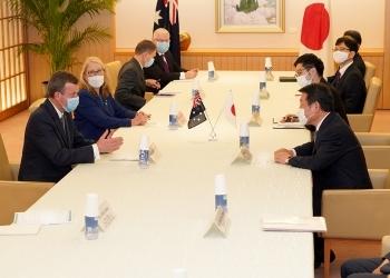 茂木外務大臣とティーハン・オーストラリア貿易・観光・投資大会談会談