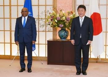 シャーヒド第76回国連総会議長と茂木外務大臣