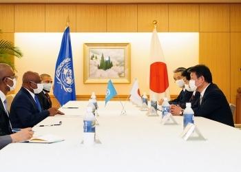 茂木外務大臣とシャーヒド第76回国連総会議長との会談
